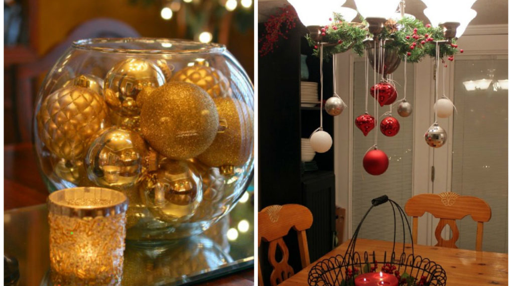 christmas ornaments that have been repurposed for new years